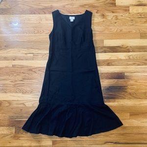 Ann Taylor Loft Black Linen Dress